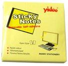 Samolepící bloček 75x75mm 100 listů - žlutý