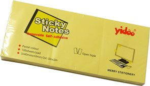 Samolepící bločky 50x40mm 300 listů - žlutý