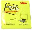 Samolepicí bloček 75x75 mm 100 listů - neon žlutý