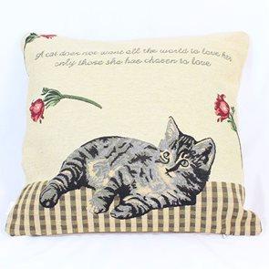 Povlak na polštář Kočka