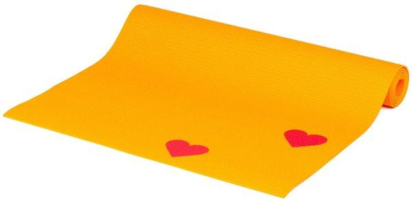 Dětská podložka na cvičení - oranžová srdíčka