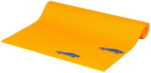 Dětská podložka na cvičení - oranžová autíčka