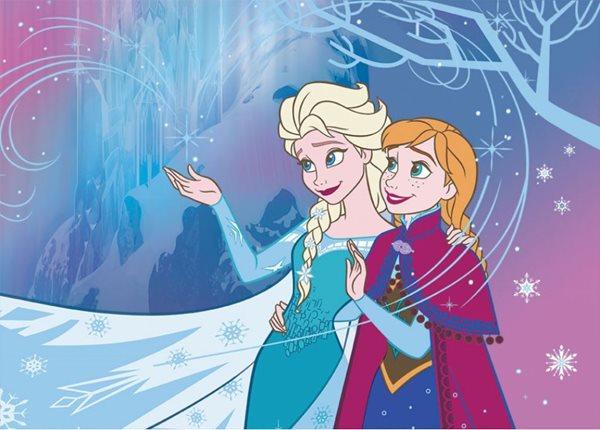 Dětský koberec Ledové království - Anna a Elsa