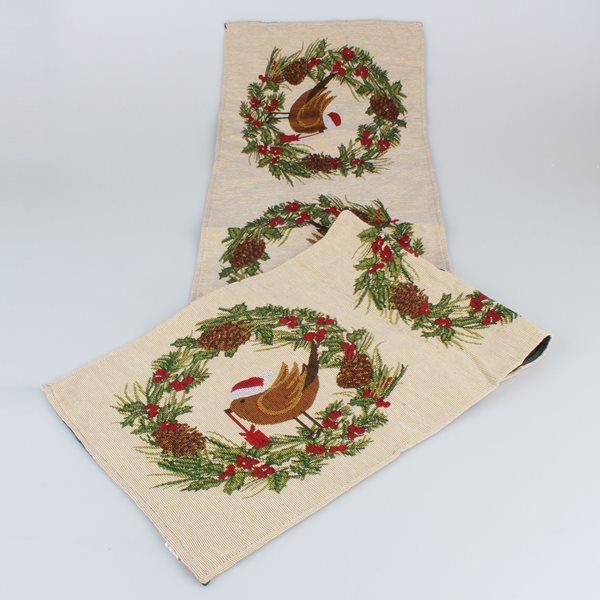 Gobelínový běhoun Vánoční ptáček