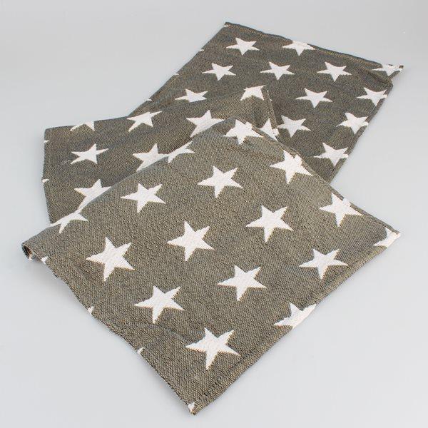 Gobelínový běhoun Hvězdy - tmavě šedé, Sleva 40%
