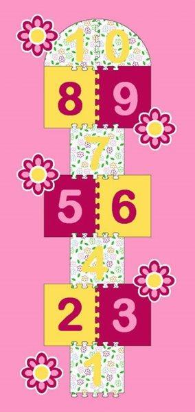 Dětský koberec Skákací panák růžový - 95 x 200 cm