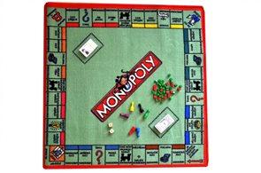 Dětský koberec Monopoly hra - 92 x 92 cm