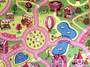Dětský koberec Sladké město - 80 x 120 cm