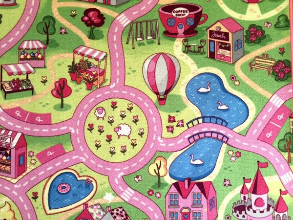 Dětský koberec Sladké město - 80 x 120 cm, Sleva 25%