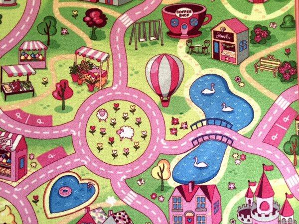 Dětský koberec Sladké město - 140 x 200 cm