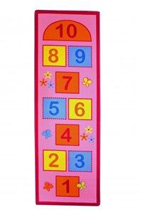 Dětský koberec Skákací panák růžový - 67 x 200 cm