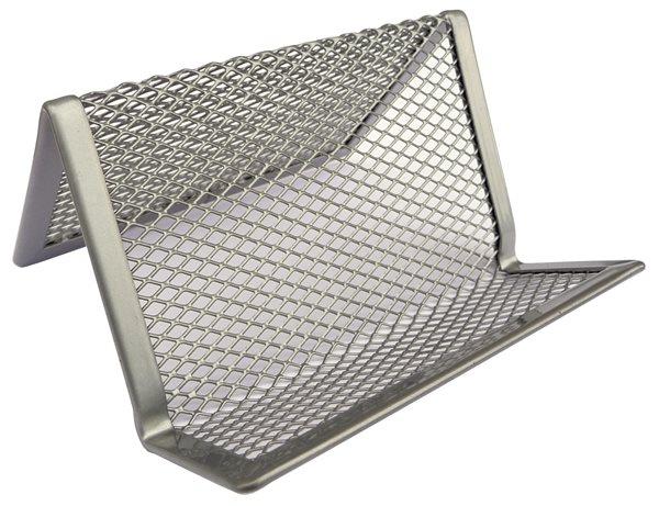 Drátěný stojánek na vizitky - stříbrný