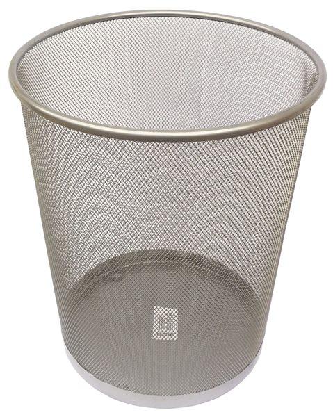 Drátěný odpadkový koš 29,5x34,5 cm - stříbrný