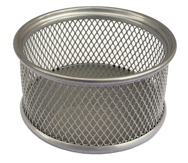 Drátěný stojánek na kancelářské spony - stříbrný