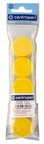 Centropen Magnety 9795 10 ks - žluté