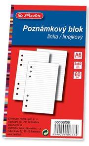 Herlitz Poznámkový blok do TP A6 3 ks, 50 listů, linka