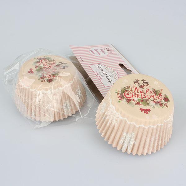 Papírové košíčky na pečení 50 ks - Veselé Vánoce