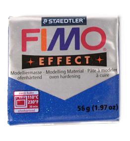 Modelovací hmota FIMO soft 56 g - 302 třpytivý efekt - modrá