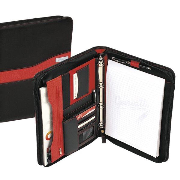 Guriatti Portfolio se zipem A4-B-08-G - černo/červená