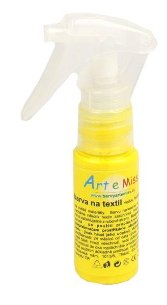 Textilní barva ve spreji - 30 g - barva žlutá