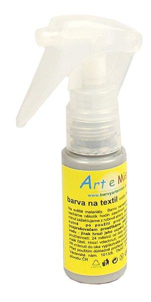 Textilní barva ve spreji - 30 g - barva stříbrná
