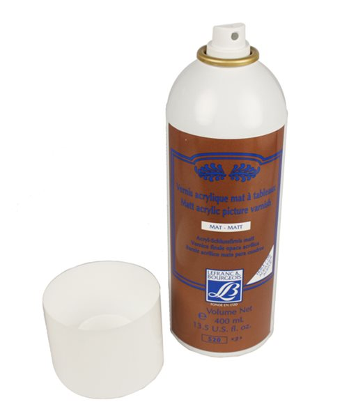 Lak ve spreji na olej a akryl Lefranc, 400 ml, matný