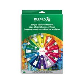 Akrylové barvy Reeves 14 x 10 ml + příslušenství