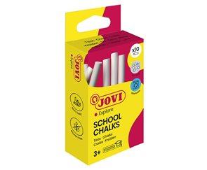 Křídy školní Jovi - 10 kusů bílé, bezprašné