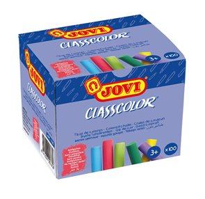 Křídy školní JOVI - 100 kusů barevné, bezprašné
