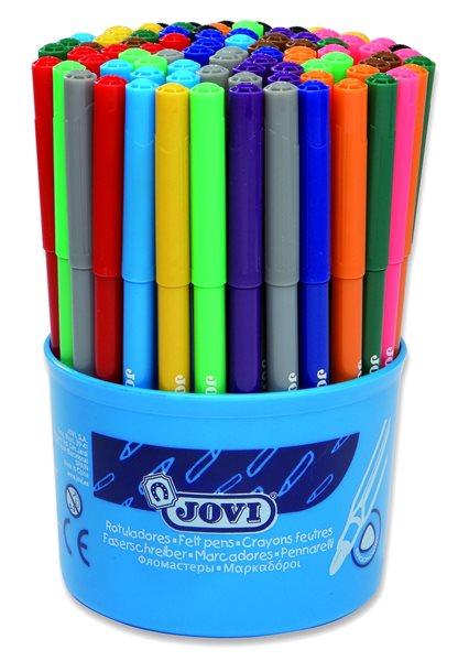 Fixy Jovi - tenké 84 ks vypratelné, v kelímku, 7× 12 barev - 140 mm, průměr 8 mm