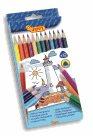 Pastelky Jovi dřevěné - 12 barev, trojhranné