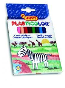 Voskovky Plasticolor - kulaté - 12 barev
