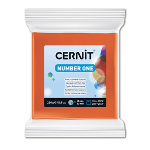 CERNIT Modelovací hmota 250 g - oranžová