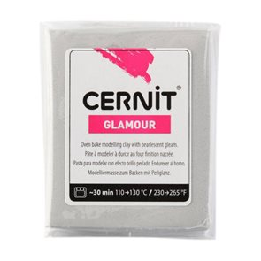 Modelovací hmota CERNIT GLAMOUR 56 g - stříbrná