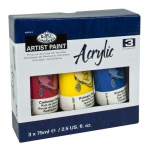Akrylové barvy ROYAL & LANGNICKEL - 3 x 75 ml
