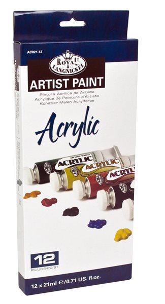 Akrylové barvy ROYAL & LANGNICKEL - 12x21 ml