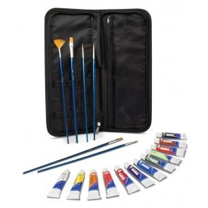 Akrylové barvy ROYAL & LANGNICKEL - 12x12 ml + 6x štětec