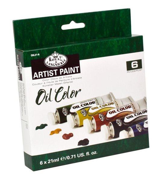 Olejové barvy ROYAL & LANGNICKEL - 6 x 21 ml