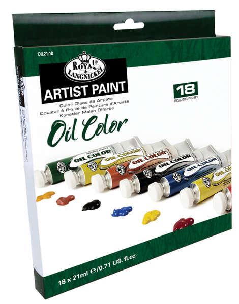 Olejové barvy ROYAL & LANGNICKEL - 18 x 21 ml
