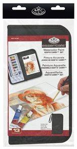 Akvarelové barvy Royal & LANGNICKEL - 6 x 5 ml + příslušenství