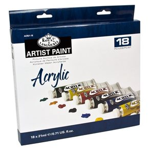 Akvarelové barvy Royal & LANGNICKEL - 18 x 21 ml