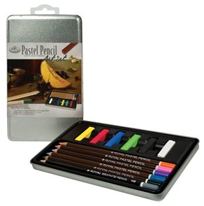 Pastelový set - 6x jemný pastel + 5x pastelová tužka + grafitová tužka