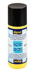 DARWI ICE Satinovací barva na sklo s ledovým efektem, 80 ml - žlutá