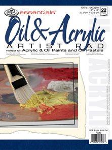 Skicák na olej a akryl - 22 listů, A4, 200g/m2