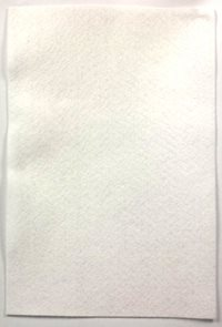 Filcový papír 150 g - barva bílá