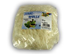 Sisalové vlákno 50 g - barva bílá