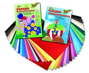 Barevné papíry 24×34 cm 130 g - sada 2×25 barev