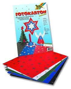 Barevný papír 25×35 cm - hvězdičkovaný, 10 kusů (mix 2×5 barev)