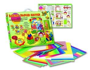 Sada barevných papírů na výrobu jarních dekorací - 110 kusů, mix barev, velikostí a druhů papírů
