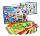 Sada barevných papírů na výrobu dekorací - 110 kusů, mix barev, velikostí a druhů papírů
